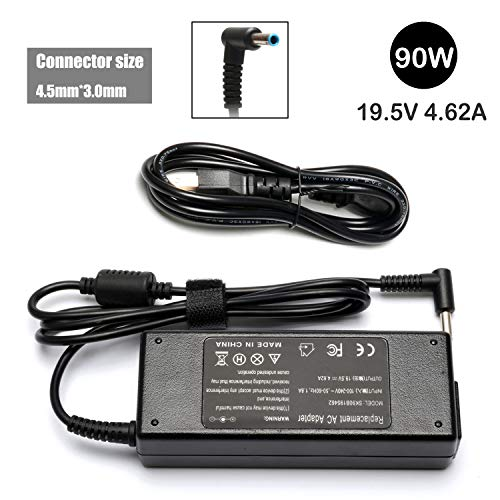 90W AC Laptop Adapter Charger For HP 741727-001 710413-001 710414-001 709986-003; HP Pavilion 11 14 15 17; HP Stream 11 13 14; Series; Elitebook Folio 1040, HP Spectre X360 13 15 Power Supply Cord ()