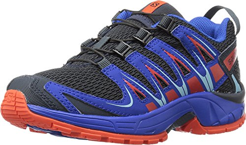 Salomon Kid's XA Pro 3D Running Sneakers, Blue Manmade, Textile, Mesh, 2 Little Kid M Salomon Kids Xa Pro Shoe