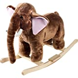 Happy Trails Plush Rocking Mo Mammoth with Sounds, Brown