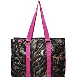 N Gil All Purpose Organizer Medium Utility Tote Bag II (Camo Hot Pink)