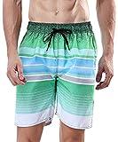 "MILANKERR Men's Swim Trunk (L(38""-40""), Lime"