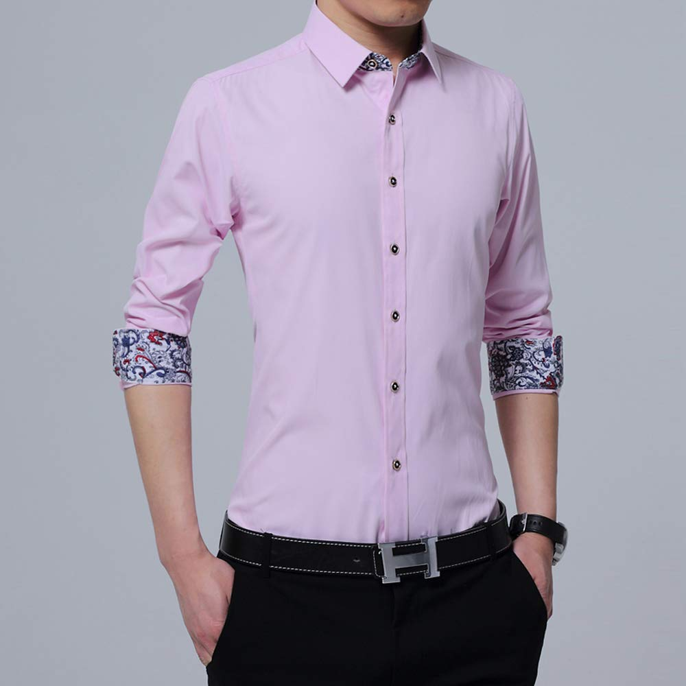 Mens Classic Button Down Regular Fit Long Sleeve Casual Shirts