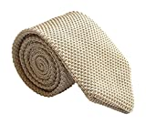 Mens Champagne Ties Spring Woven Silk Wedding Party Formal Necktie Gift for Dad