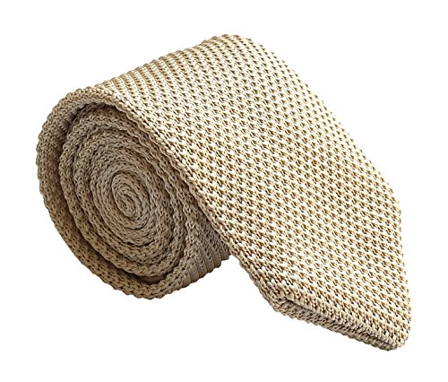 (Mens Champagne Ties Spring Woven Silk Wedding Party Formal Necktie Gift for Dad)