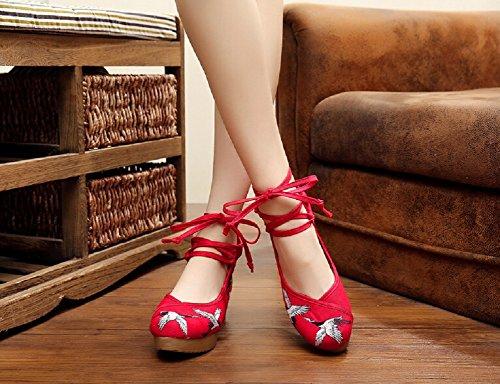 Red Lazutom Lazutom Lazutom para Red Bailarinas mujer Bailarinas para Bailarinas mujer qxBHawTx