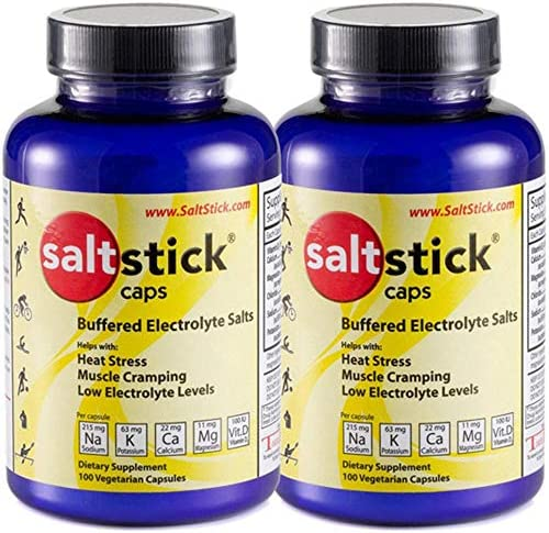 SaltStick Caps Electrolyte Replacement 100 Count 200 Capsules