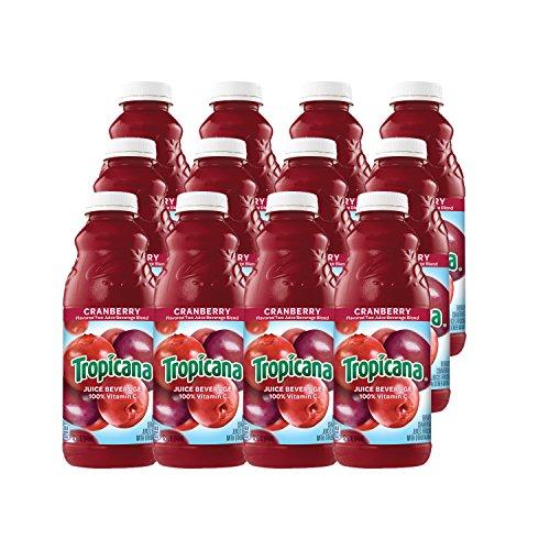 Tropicana Cranberry Juice, 32 oz Bottles, 12 Count ()