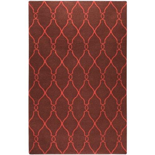 811 Cocoa (Jill Rosenwald by Surya Fallon FAL-1010 Flatweave Hand Woven 100% Wool Hot Cocoa 8' x 11' Global Area)