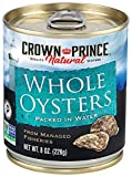 Crown Prince Natural Whole Boiled Oysters, 8-Ounce Cans (Pack of 12)