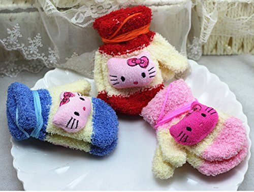 Baby Hello Kitty Mittens/various Colours-1 Pair (Red and Beige) ()