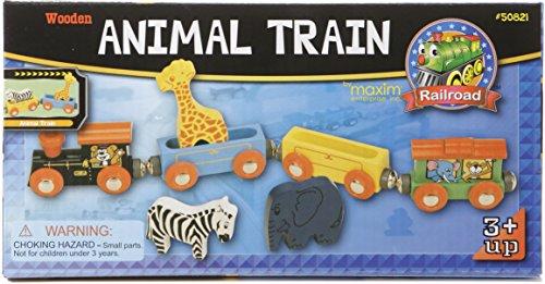 Wooden Animal Train Set 7 Piece