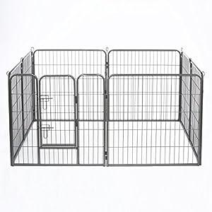 Dibea FG00541–Parque para Cachorros, recinto desplazable, para Perros y Animales pequeños, 8Elementos, Altura 80cm