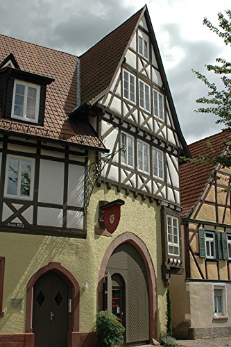 Laminated Poster Old Town Architecture Homes Ladenburg Alley Facade Poster