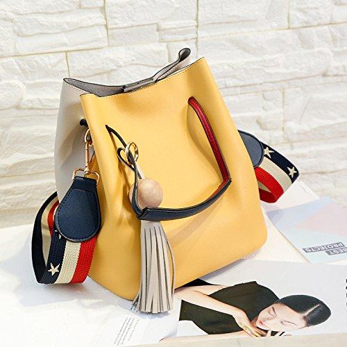 La Cuchara Hombro Bolsa Diagonal Color De Bolsa Amarillo De Portátil Yellow GUANGMING77 gdZqwTfZ