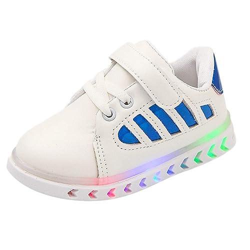 Zapatos Niño con Luces K-youth Zapatillas de Deporte Unisex Niños Casual Zapatos Antideslizante LED
