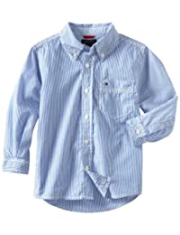 Tommy Hilfiger Big Boys' Tommy Stripe Woven Shirt