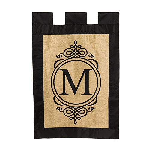 burlap-monogram-house-flag-m