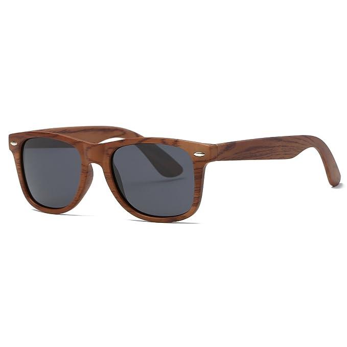 kimorn Polarizado Gafas De Sol Clásico Unisexo Cuerno Rimmed Años 80 Retro  AE0300 (Imitación de 157c226779