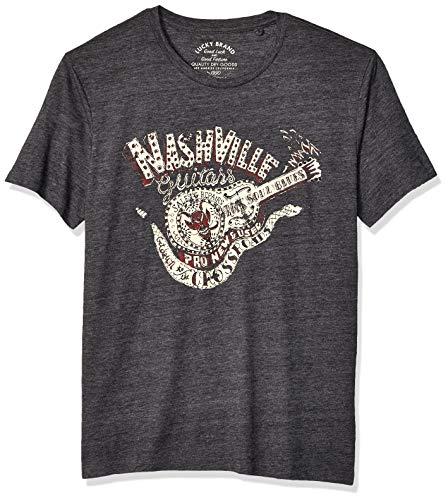 Lucky Brand Men's Nashville DEVILSNAKE TEE, Jet Black, L