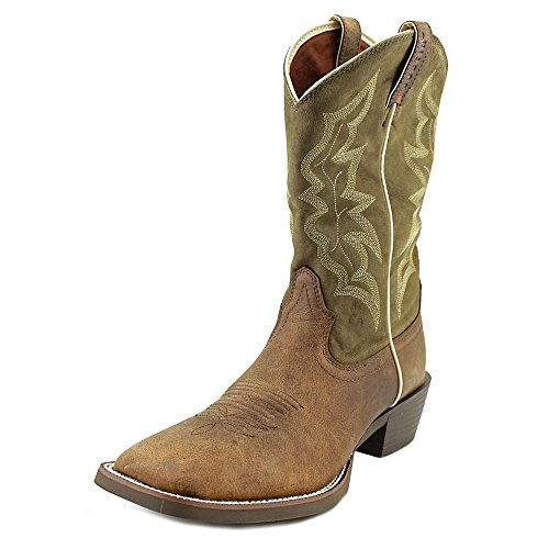 Justin Boots Men's Stampede 2569 Waxy Brown 11 D (Cream Justin Boot)