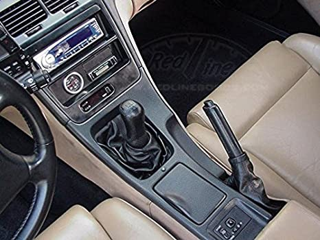 Black Leather-Black Thread RedlineGoods ebrake Boot Compatible with Nissan 300ZX 1990-96