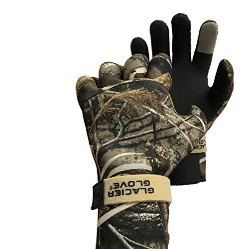 Glacier Glove Pro Waterfowler Waterproof Neoprene Gloves, Max 5, X-Large