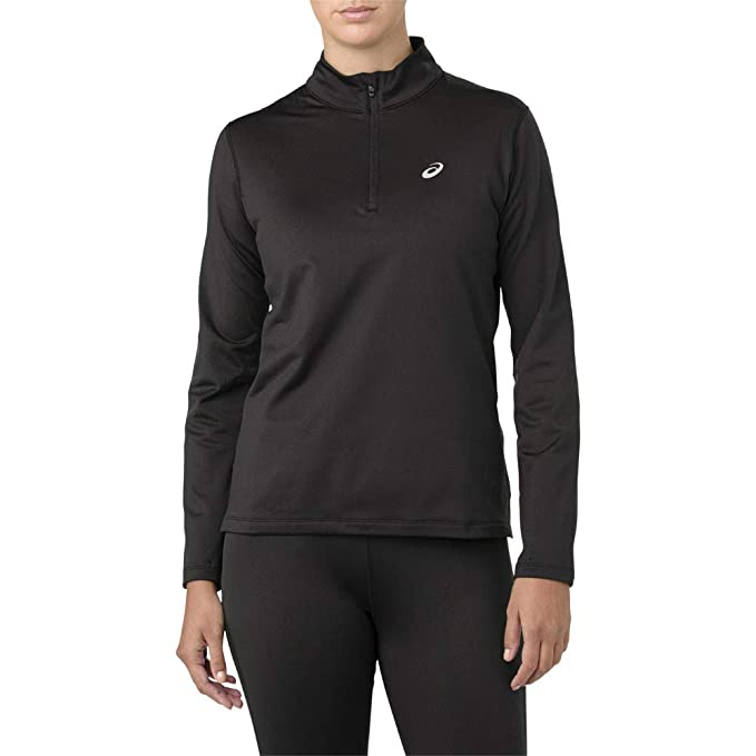 2b6081c57cf Asics Silver Long Sleeve 1/2 Zip Women's Winter Running Top: Amazon ...