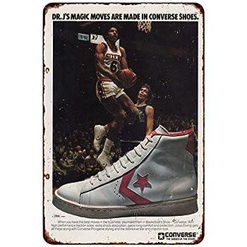 5f9e0903ac39 Dr. J s Converse Sneakers RARE sneaker head AD Reproduction metal sign 8 x  12