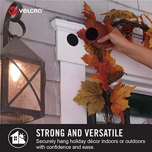 VELCRO Brand Industrial Strength Fasteners | Stick-On Adhesive | Professional Grade Heavy Duty Strength Holds up to 10 lbs on Smooth Surfaces | Indoor Outdoor Use | 4 x 2 inch Strips, 2 sets, Black