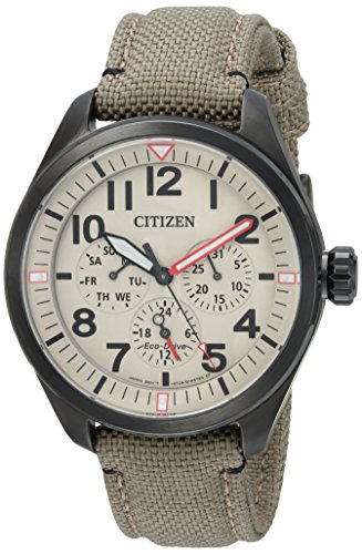 Citizen Men's 'Military' Quartz Stainless Steel and Nylon Casual Watch, Color:Green (Model: BU2055-08X) (Ecko Quartz)