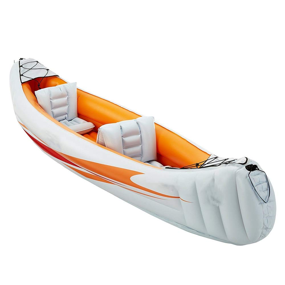 Durability Inflatable Kayaks Durable Explorer Two Or Three Inflatable Boat Group Fishing Boat Thickening Kayak Inflatable Boat Hovercraft to Send Boat Propeller Air Pump/Orange by BoeWan