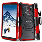 LG Stylo 4 / LG Stylo 4+ Plus Case, Evocel [New Generation Series] Belt Clip Holster, Kickstand, Dual Layer for LG G Stylo 4 / LG Stylo 4 Plus (2018 Release), Red (EVO-LGSTYLO4-XX03)