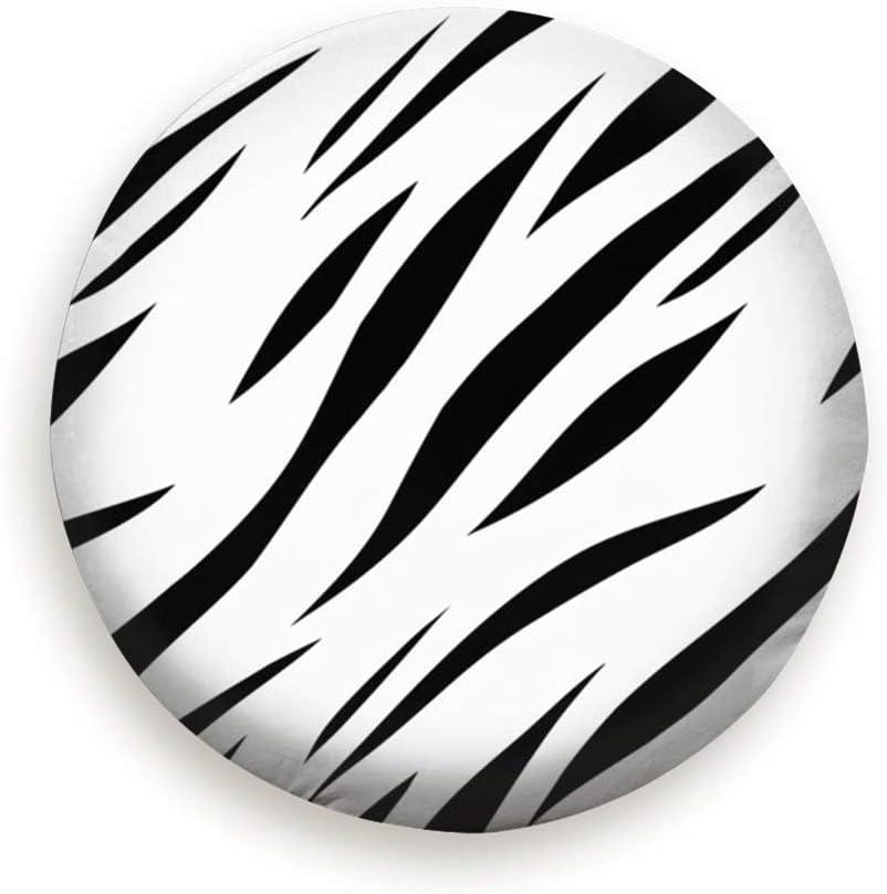 15,16,17 inch Polyester Spare Tire Tyre Wheel Valve Cover Animal Print Monochrome Tiger Pure Black 14 1pcs of Pack Sunwd Ersatzradabdeckungen