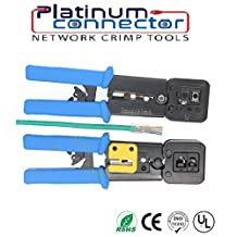 RJ45/12 Professional Heavy Duty Crimp Tool by Platinum Connector for pass through and legacy connectors