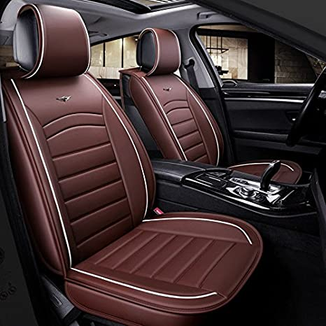 flexzon Universal Deluxe Quality Red /& Black PU Leather Full Set Car Van Suv Seat Covers Padded