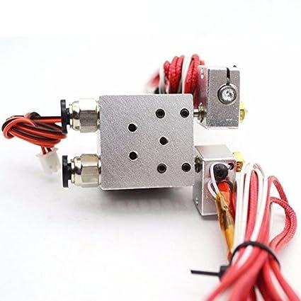 0.4//1.75mm Print Head 3D Printer Chimera Extruder Multi-Extrusion Double Nozzle
