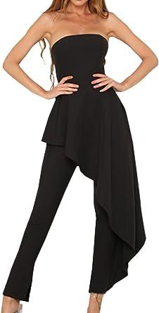 Simple-Fashion Verano Mujeres Monos Joven Moda Backless ...