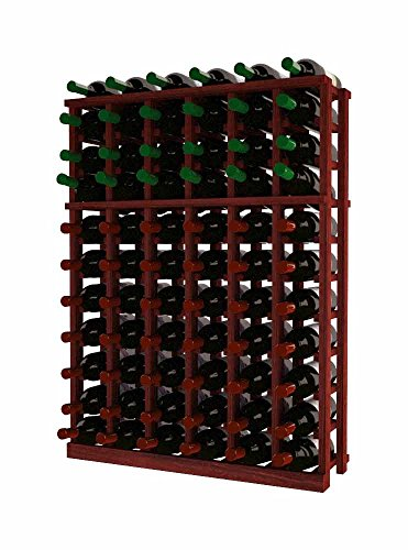 Wine Cellar Innovations RP-CM-HH-A3 Traditional Series 6 Column Individual Half Height Wine Rack, Rustic Pine, Classic Mahogany Stain