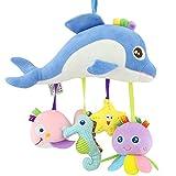 Happy Monkey Plush Rattles Toys Ocean series