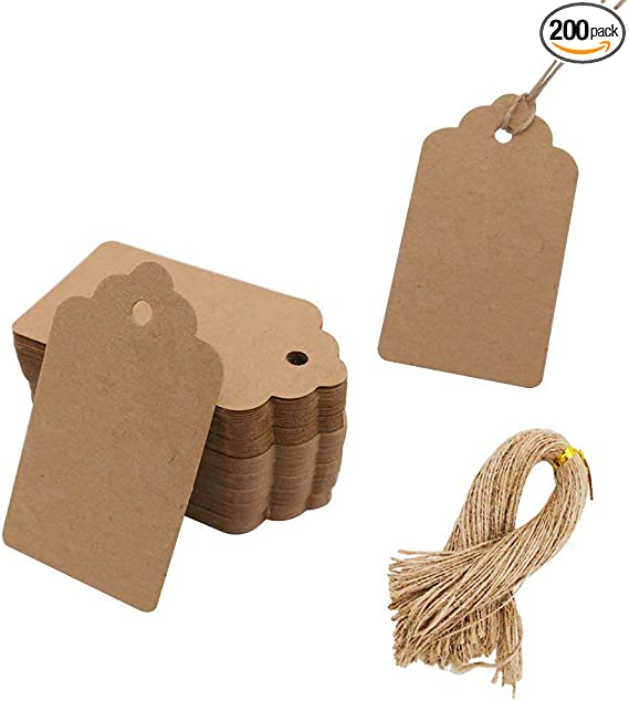 50pcs Star Shaped Kraft Paper Tags Tags Candy Craft Box good Gifts Lab CL