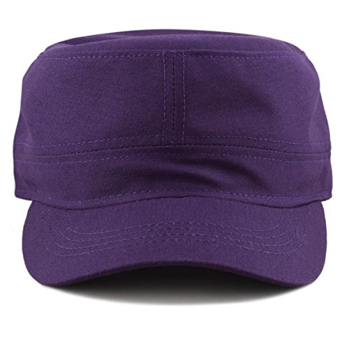 THE HAT DEPOT Made in USA Cotton Twill Military Caps Cadet Army Caps (Purple) - Army Twill