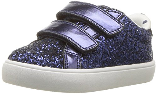 Carter's Girls' Gloria Casual Sneaker, Navy, 9 M US Toddler