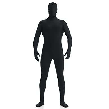 dh mens lycra spandex full body costume zentai suit xs black