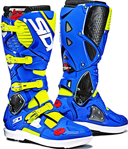 Crossfire 3 SR Offroad Boots (9.5/43, Flo Yellow/Blue) (Sidi Cover)