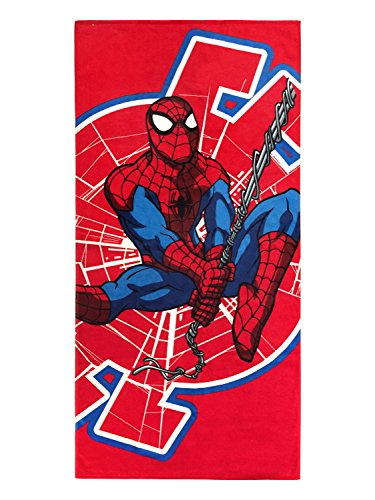Jay Towels Franco Bath (Jay Franco Marvel Spiderman Swing Around Kids Bath/Pool/Beach Towel - Super Soft & Absorbent Fade Resistant Cotton Towel, Measures 28 inch x 58 inch (Official Marvel Product))