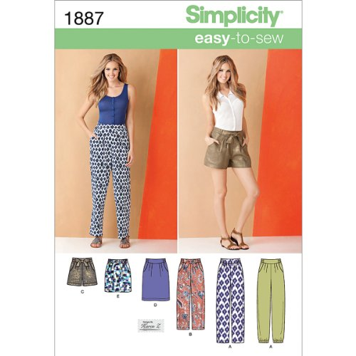 Simplicity Karen Z Easy-to-Sew Pattern 1887 Misses Pants, Shorts and Skirt in 2 Lengths Size 16-18-20-22-24 Easy To Sew Patterns