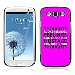 Planetar® ( Bible Verse-THOUGHTS AND FEELINGS ) Samsung Galaxy S3 / i9300 / i747 Fundas Cover Cubre Hard Case Cover