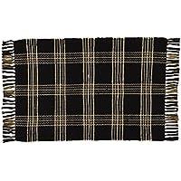 Park Designs 376-25 Black Coffee Rag Rug, 24 x 42