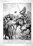 old-print Print 1917 War Horse Tank Somme Jeanne D'Arc Rheims Louvre 519M195