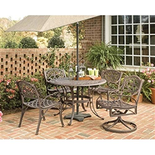 Weather Resistant Resin Wicker Patio Dining Table 63-inch with Steel Frame Patio Table Dining Chairs SetCHOOSEandBUY (Wrought Woodard Patio Iron Vintage Furniture)